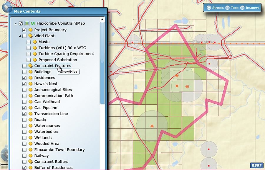 SharePoint Web Parts (v.1.1) consuming ArcGIS for Server map services allows project managers to visualize their projects using a dynamic map viewer.
