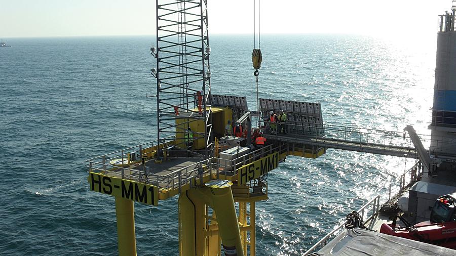 Offshore met mast, Hornsea Zone, England.
