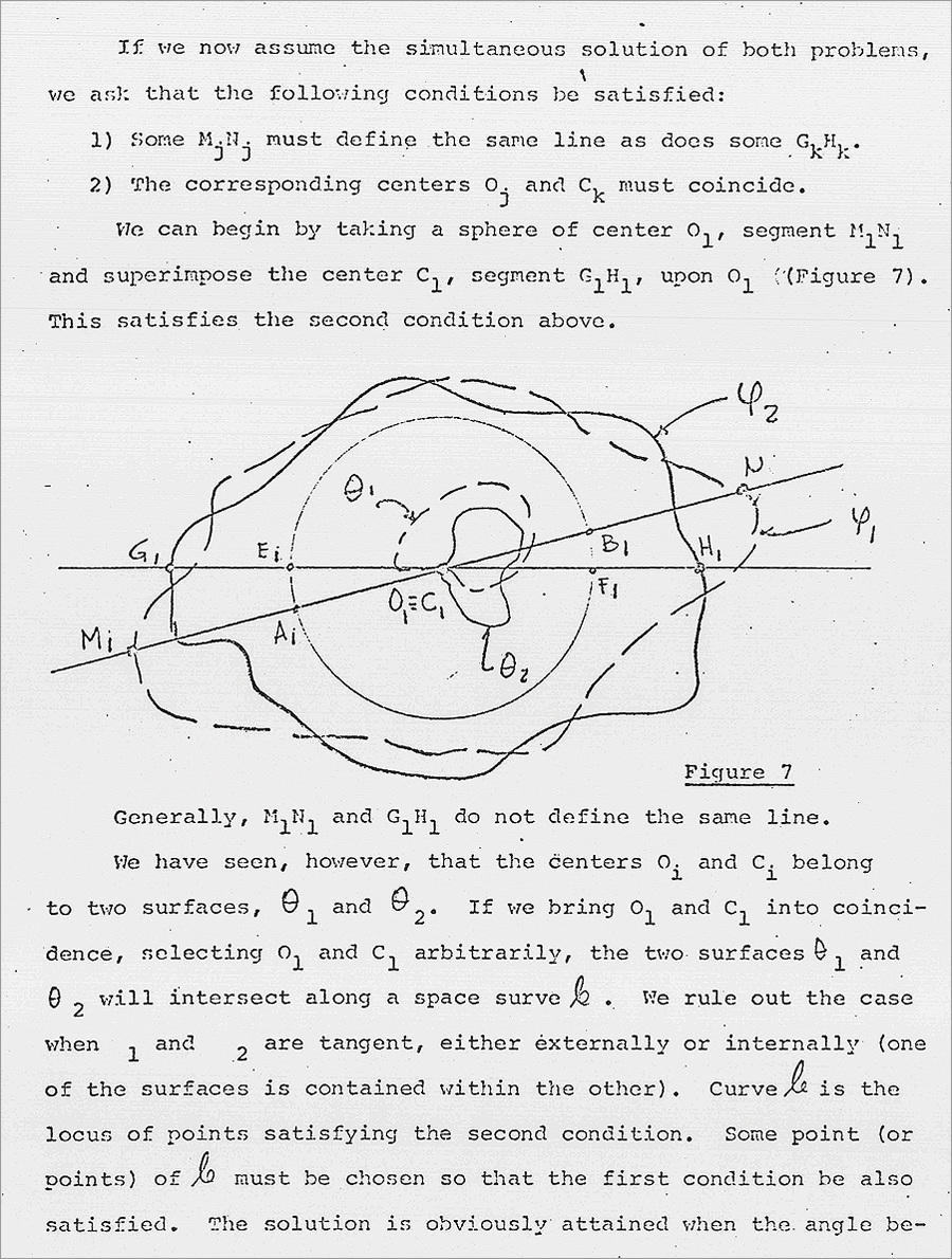 Typical typewritten and hand-drawn page from Harvard Papers in Theoretical Geography, Number 37. Design-wise, the series is not much to look at, but the content shows the multidisciplinary range of the Harvard Lab at the time. (Nick Chrisman Collection, Geography and Map Division, Library of Congress.)