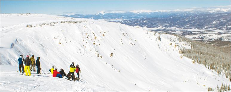 Ski patrol members carrying radios can be tracked using ArcGIS even while they patrol remote areas like the Cirque Territory. The Cirque gives expert skiers and snowboarders a challenging backcountry experience on ungroomed slopes.