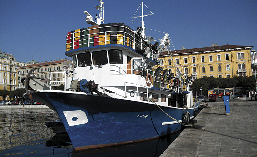 A Croatian fishing vessel.