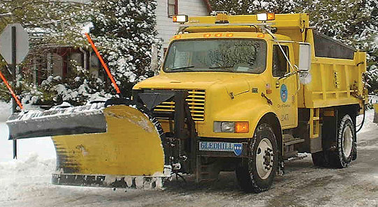 A City of Columbus snowplow.