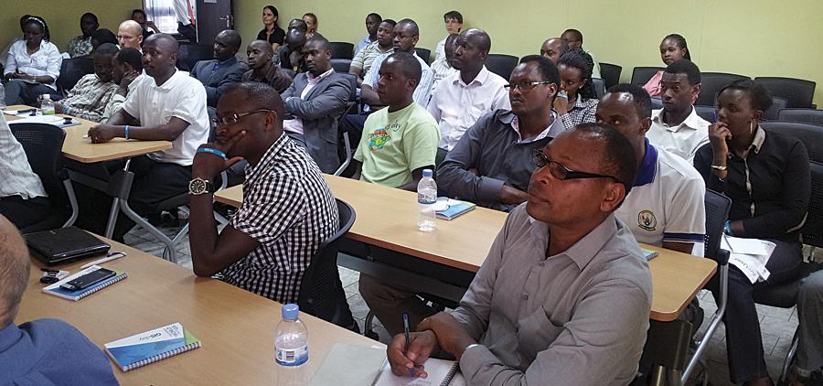 GIS Day in Rwanda, east Africa.