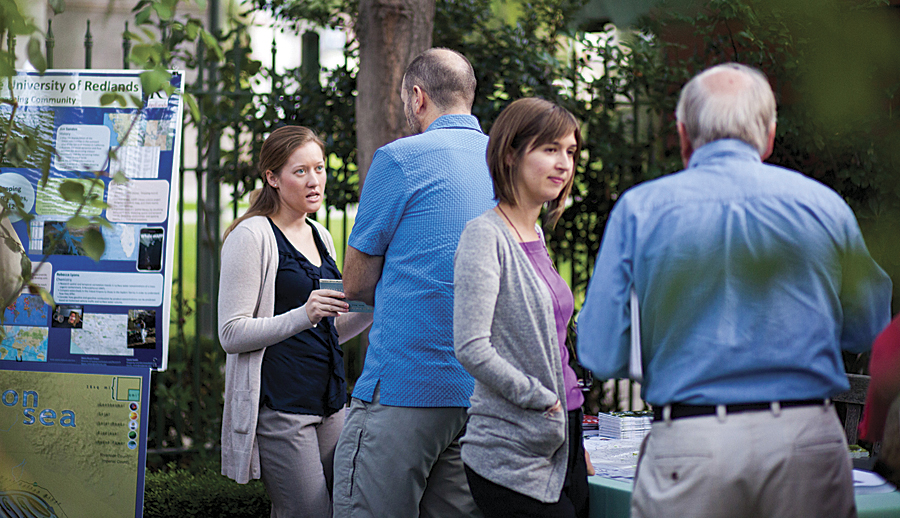 Esri hosted its first GIS Day celebration in Redlands, California.