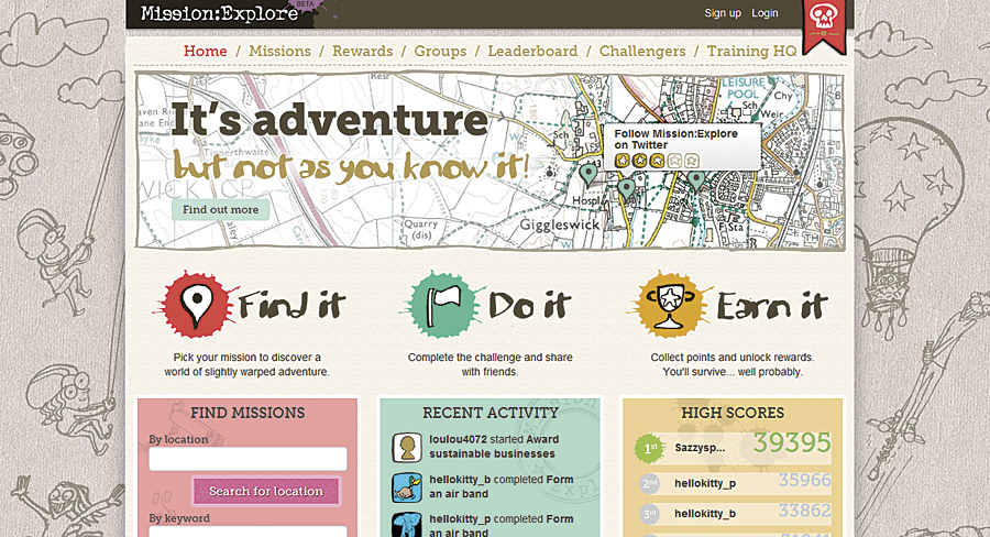 The Geography Collective's Mission:Explore website.