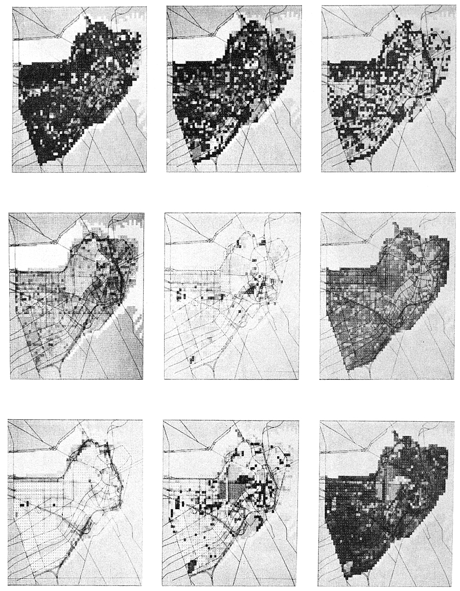 Figure 2. Data and analyses derived from photography and interviews to help explain why some parts of central Boston are memorable. (Courtesy of C. Steinitz.)