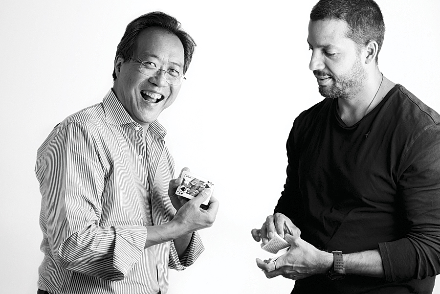 Yo-Yo Ma and David Blaine. (Photo by Jon Kamen.)