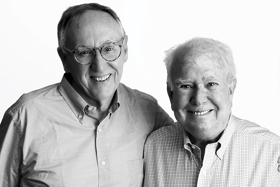 Jack Dangermond and Peter Raven. (Photo by Jon Kamen.)