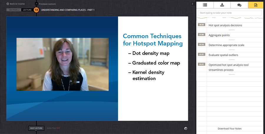 Expert Esri staff explain concepts and answer questions.
