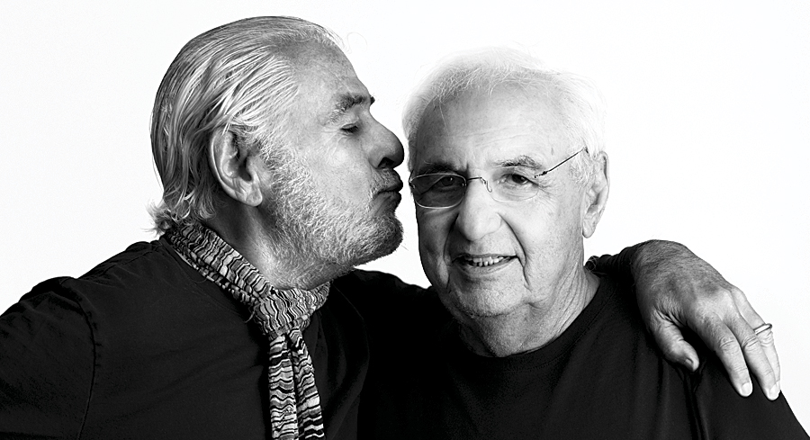 Richard Saul Wurman and Frank Gehry. (Photo by Jon Kamen.)
