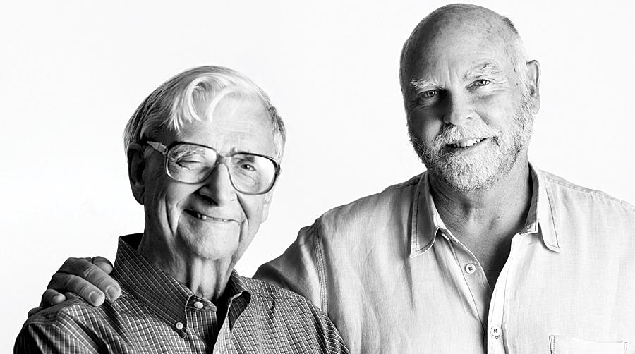 E. O. Wilson and Craig Venter. (Photo by Jon Kamen.)