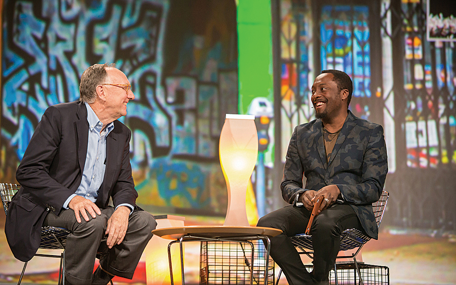 Jack Dangermond and will.i.am talk about technology education and inner city programs.