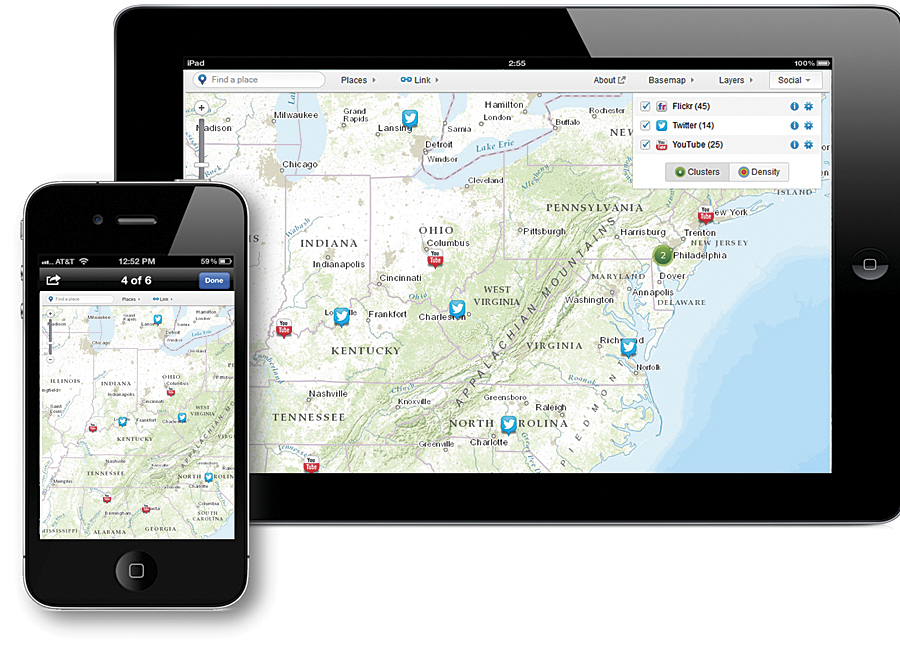 Web maps bring mapping and GIS capabilities to everyone, on the web or on any device.