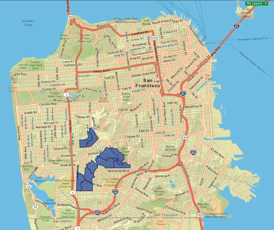 Using Community Analyst and census block demographic data, San Francisco Department of the Enviroment identified three key segments where residents would likely consider purchasing energy upgrade packages.