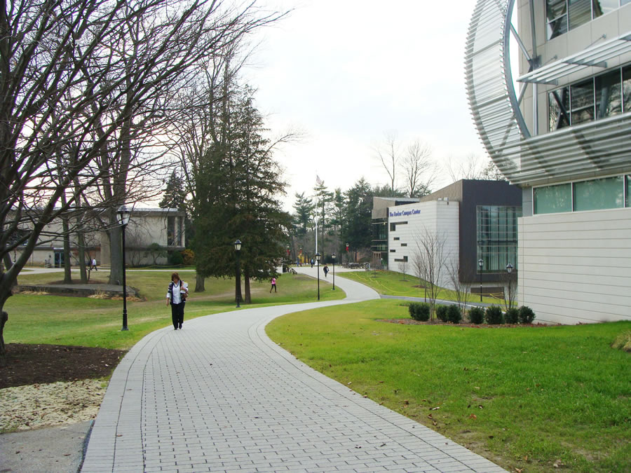 Students stroll on the main campus of PhilaU, which will offer a master of science degree in geodesign starting next fall.