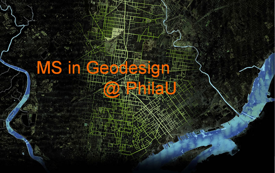 The geodesign program logo was designed by student Matthew Michelson.
