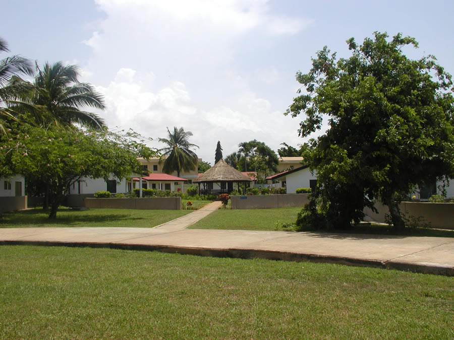 The students live in hostels located near campus.