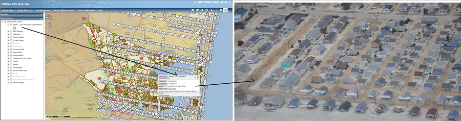 There are 2,558 points hyperlinked to the Civil Air Patrol's post-Superstorm Sandy aerial oblique photographs on the TRMUA GIS Map.