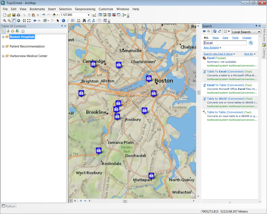 ArcGIS 10.2 added a new Excel toolset to convert Excel spreadsheets to and from tables.