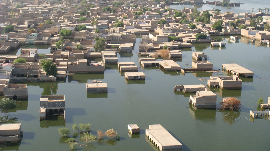 Sindh province was one of the areas that was hardest hit by the floods.