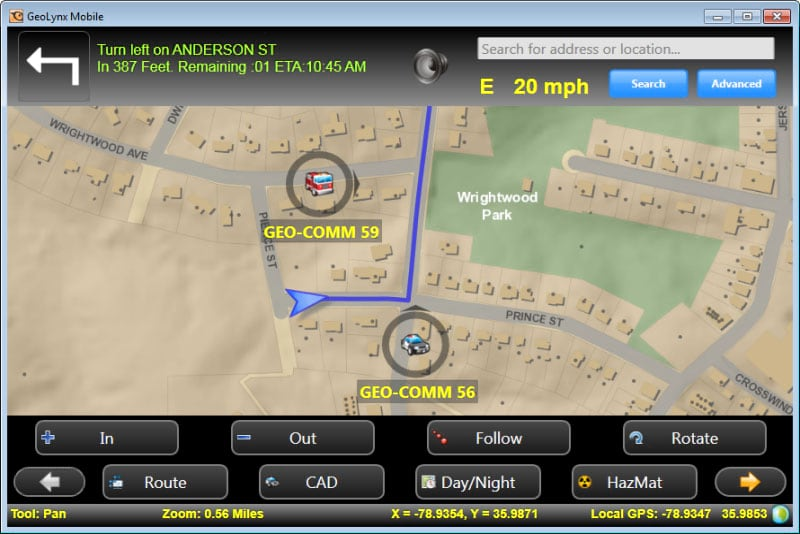 GeoLynx Mobile gives you GIS data plus an in-vehicle mapping and navigation system.
