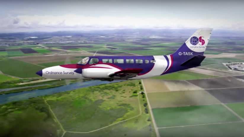 Ordnance Survey flying unit Cessna 404 Titan