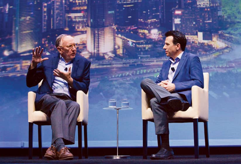 Jack Dangermond and Andrew Anagnost