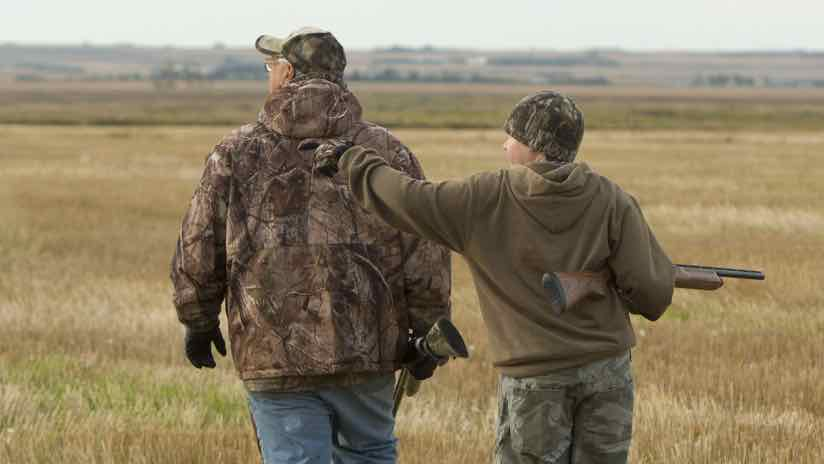 hunting with grandpa