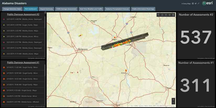 Disaster Assessments Dashboard