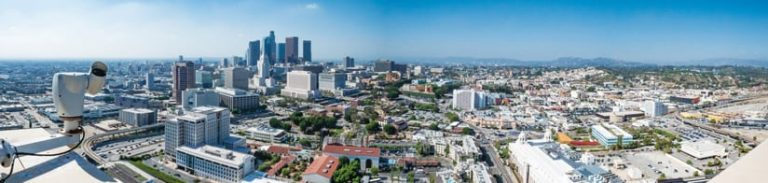 Panoramic photo of downtown Los Angeles, CA
