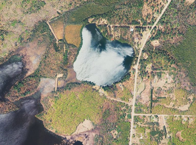 Imagery of an area in Michigan's Upper Peninsula