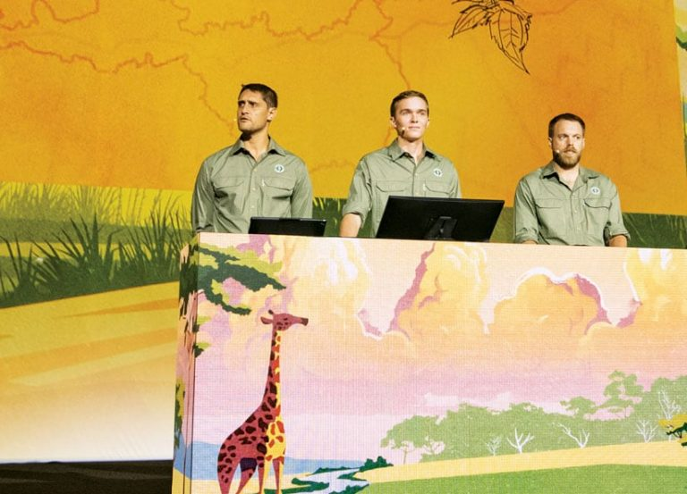 Naftali Honig, Evan Trotzuk, and Geoff Clinning of African Parks