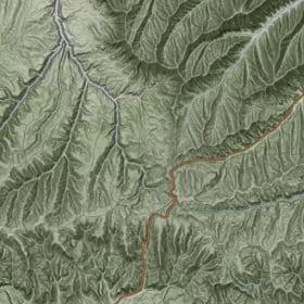 A terrain map