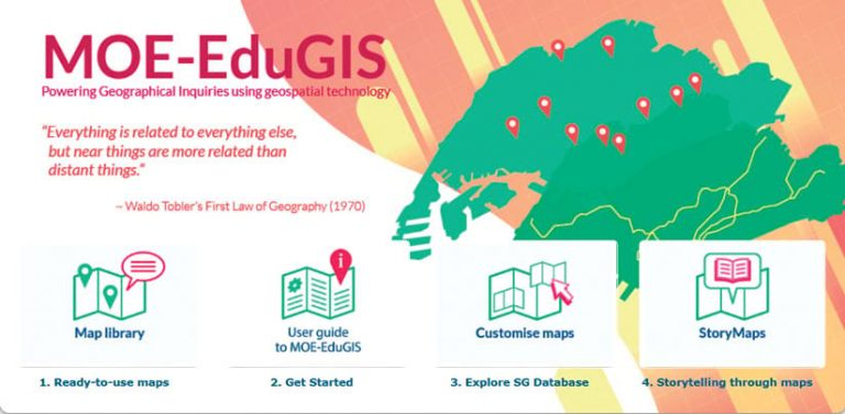 A screenshot of the MOE-EduGIS homepage