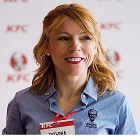Tatyana Shamanskaya of Yum Russia and KFC
