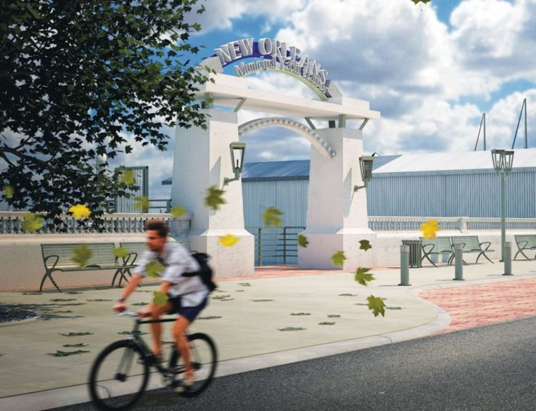 A rendering of the new entrance to the New Orleans Municipal Yacht Harbor