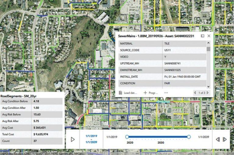 A screenshot of an IDS mapping app