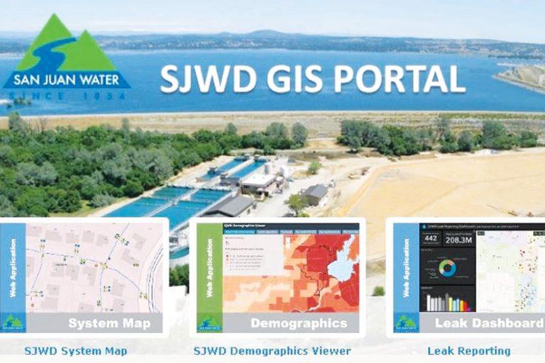 A screenshot of the San Juan Water District's GIS Portal