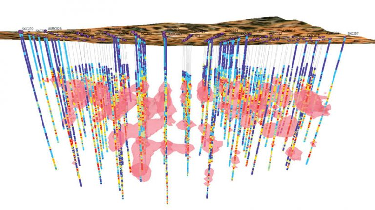 A 3D map of underground geologic data from Seequent