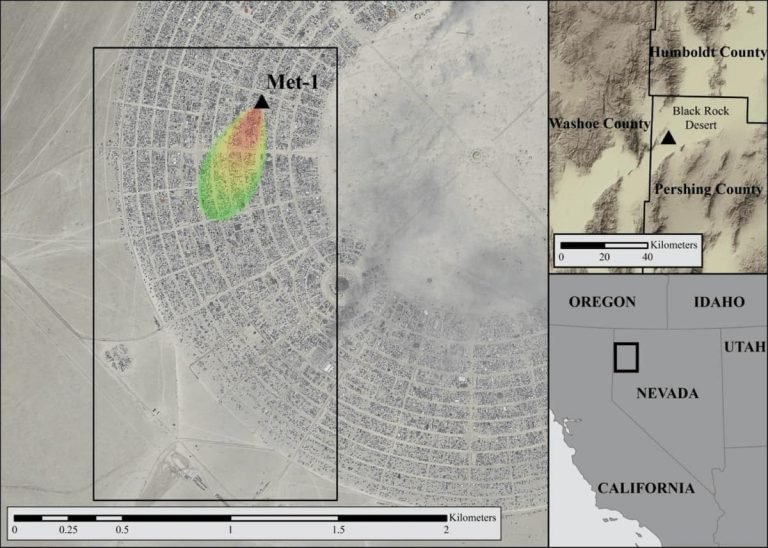 map of Burning Man site in 2013