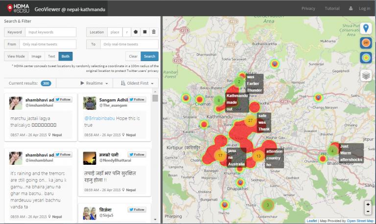 Screenshot of the GeoViewer