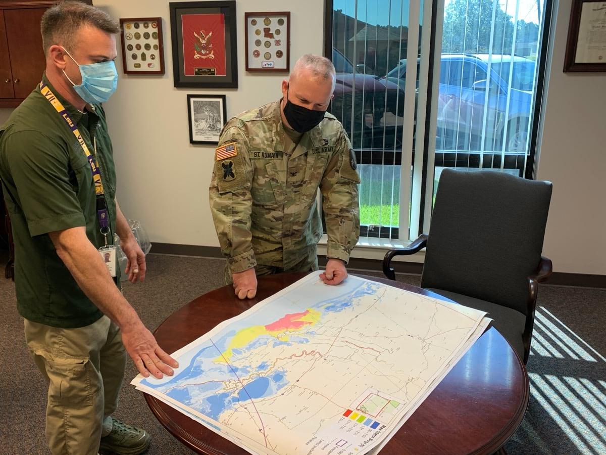 LANG looking at map