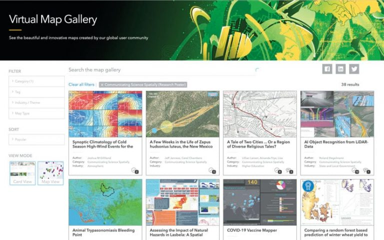 Virtually Map Gallery search with maps created by the global user community