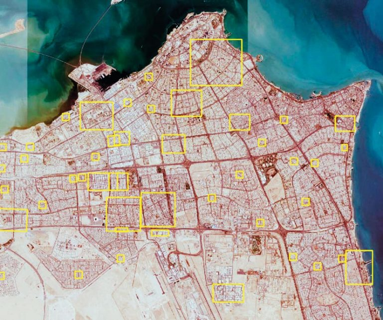 Kuwait's Public Authority for Civil Information (PACI) created new ground truth data for building footprints, street polygons, and parking lots all over Kuwait to train the model