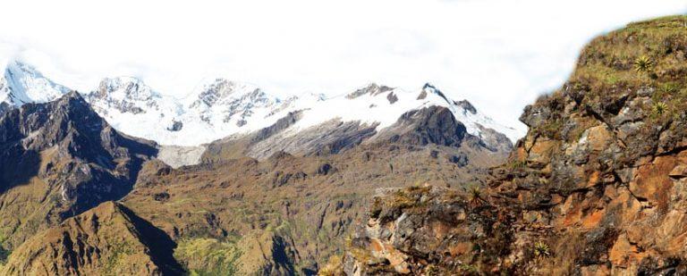 Andes mountains, Choquequirao trekking trail