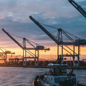 A port anchors the global supply chain