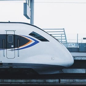 A high-speed train represents what could come from the North Atlantic Rail project