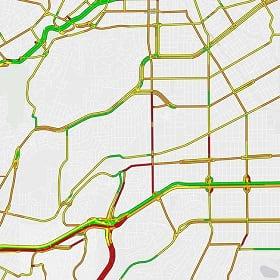 a route optimization map