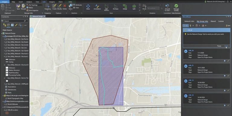 A workflow being made in ArcGIS Enterprise
