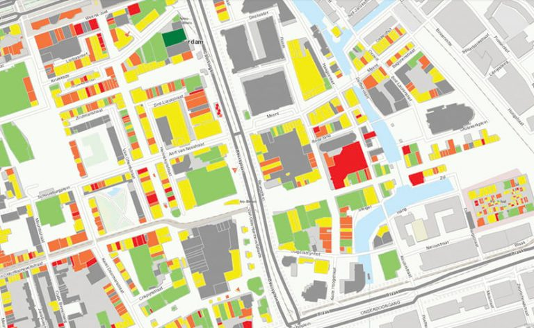 A map of the retail landscape in a city